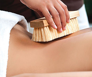 Body brushing treatment