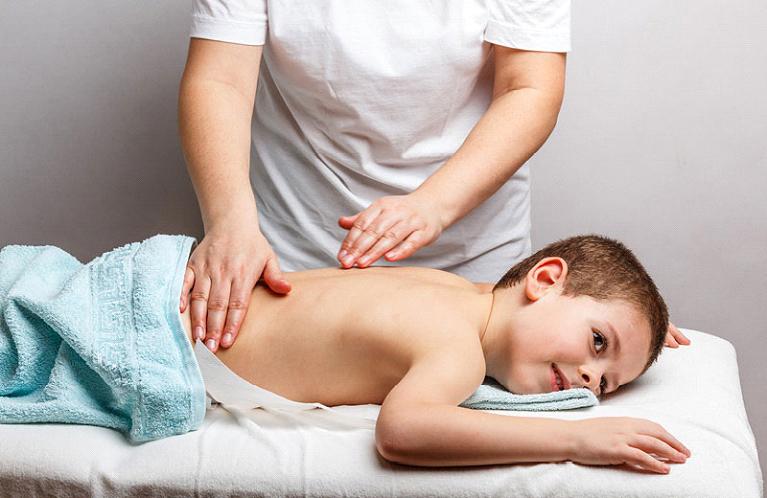 Massage teenager 'Cuddling' session